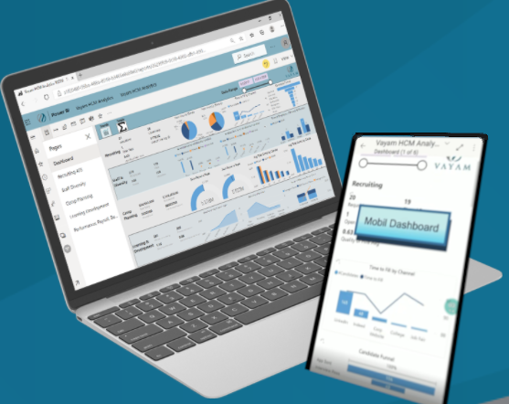 HCM Analytics - desktop mobile